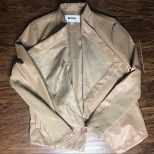 Faux Leather Jacket With Suede Lining